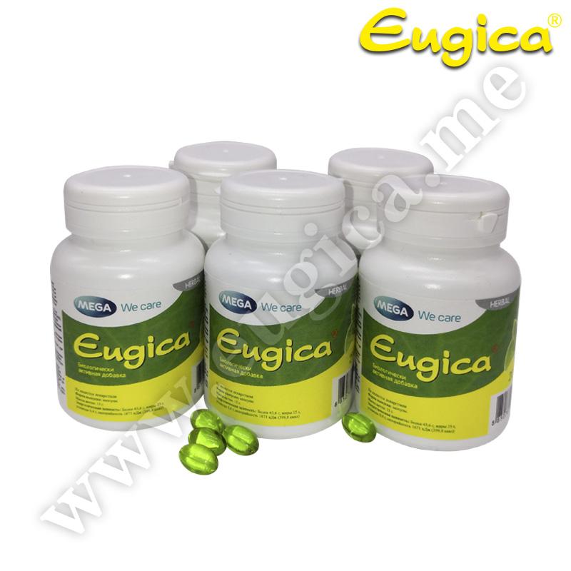 Акция! Капсулы Eugica с натуральными маслами для горла детям и взрослым, 5 по 20 штук